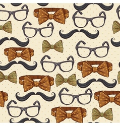 Seamless vintage hipster background vector