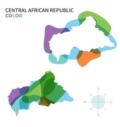 Abstract color map of central african vector