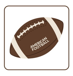 Ball for american football isolated on a white vector image