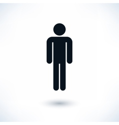 Black man sign in flat style vector image