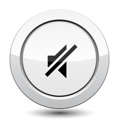 Button with sound off vector image vector image