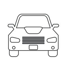 car sedan vehicle transport icon linear vector image vector image