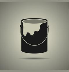 Paint bucket icon flat style vector