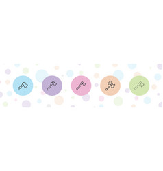 5 ax icons vector