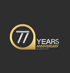 77 years anniversary celebration simple design vector