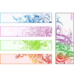 Abstract banner designs vector