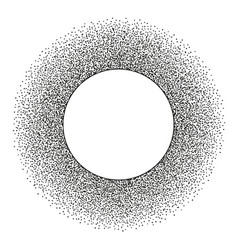 Abstract stipple dots round frame with copy space vector