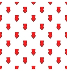 Arrow is pointing down pattern cartoon style vector