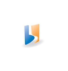 b letter 3d logo design vector image