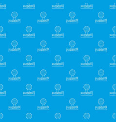 ball for golf pattern seamless blue vector image