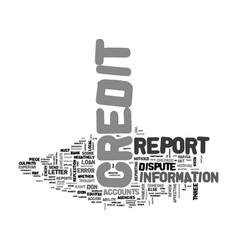 Be a credit detective text word cloud concept vector