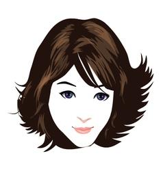 Beautiful face 2 vector