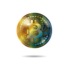 bitcoin cryptocurrency coins vector image