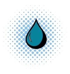 Black drop icon comics style vector image