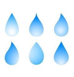 Blue droplet set vector