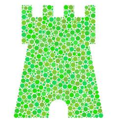 Bulwark tower mosaic of dots vector