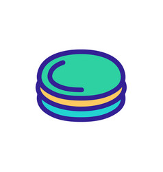 Burger cutlet icon isolated contour symbol vector