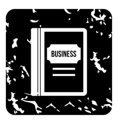 Business book icon grunge style vector