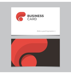 business card 01 vector image
