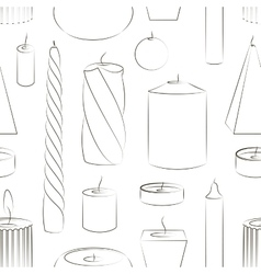 Candles set pattern vector
