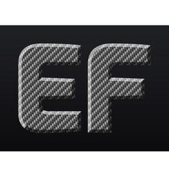 Carbon letters vector