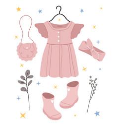 Children fashion vector