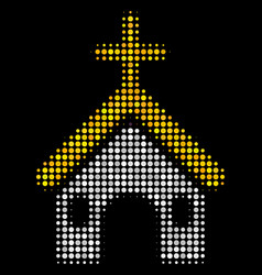christian church halftone icon vector image