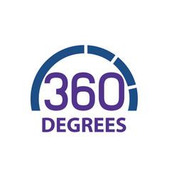 Circle 360 degrees logo concept design symbol vector