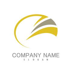 circle swirl company logo vector image