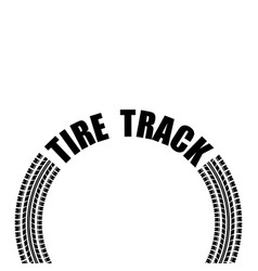 circle tire track text vector image