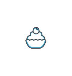 cupcake icon design gastronomy icon vector image