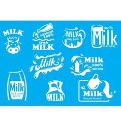 Dairy and milk produsts or symbols vector image