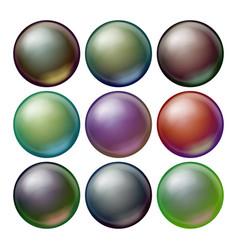 dark sphere set opaque spheres with vector image