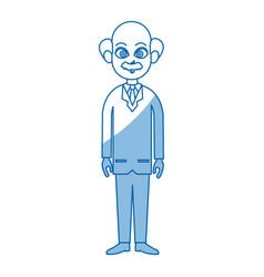 Doctor standing character wear coat healthy vector