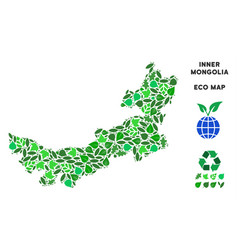 Eco green collage chinese inner mongolia vector