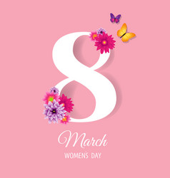 eighth march womens day postcard vector image