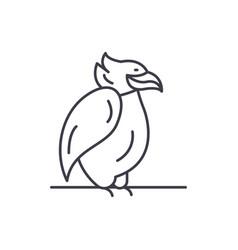 emperor penguin line icon concept emperor penguin vector image