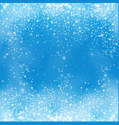 falling snow on blue background snowflake vector image