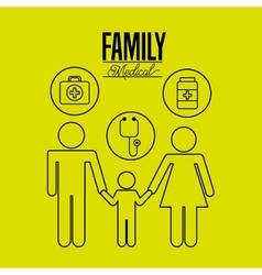 family medical design vector image