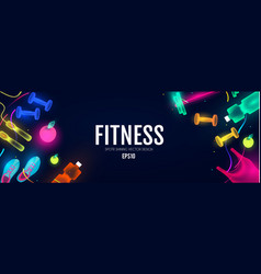 Fittnes and sport shining background shining vector