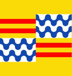 Flag of badalona in barcelona of spain vector
