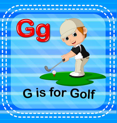 Flashcard letter g is for golf vector