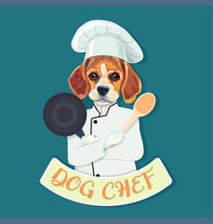 funny beagle dog chef vector image