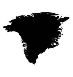 greenland - solid black silhouette map of country vector image
