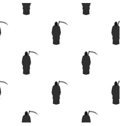 Grim reaper pattern seamless vector