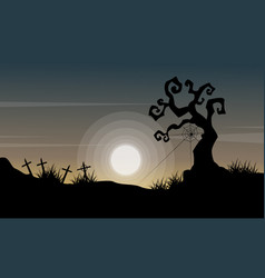 Happy halloween day background style vector