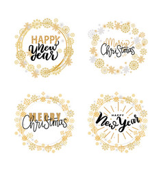 happy holidays merry christmas and holidays print vector image