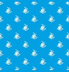 house d printing pattern seamless blue vector image