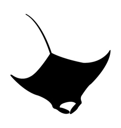 Icon manta fish vector