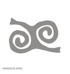 Icon with adinkra symbol kwatakye atiko vector